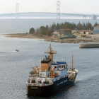 Coast Guard near Mackinac Bridge