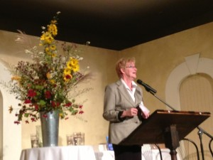 Maude speaking in Bayfield ON Sept 2013