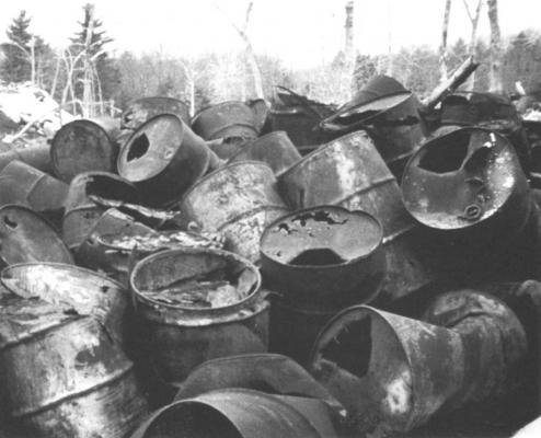 The discovery of thousands of discarded chemical drums on the Hooker Chemical Company property near Montague, Michigan in the 1970s helped spur Michigan's toxic cleanup program.