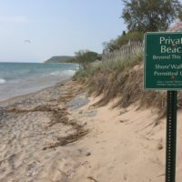 Walking the Water Line — a Legal Right, But Difficult as  Great Lakes Levels Rise